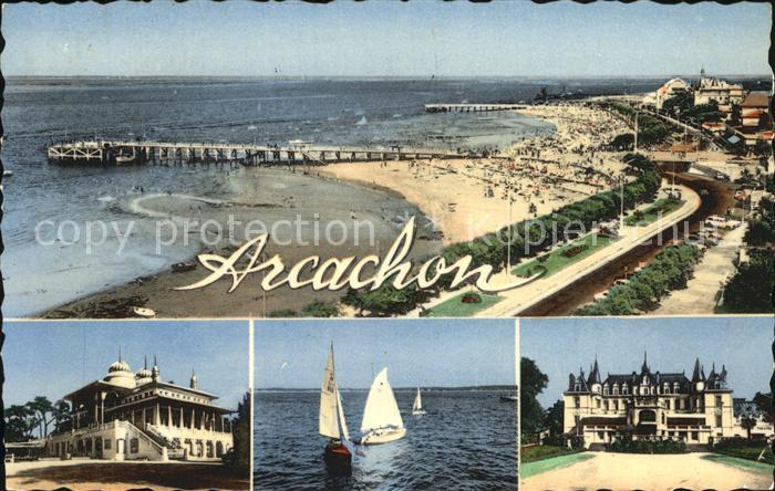 Arcachon Gironde Strand Casino Kat. Arcachon