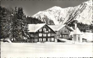Laret Davos Pension Chalet Fopp Kirche Wintersportplatz Alpen Kat. Davos
