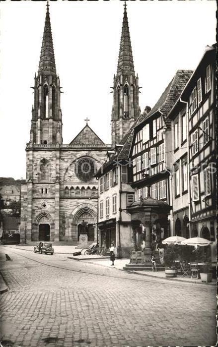 Obernai Bas Rhin Eglise et Puits des 6 seaux Kat. Obernai