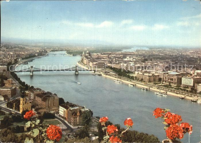Budapest Stadtansicht Luftbild Kat. Budapest