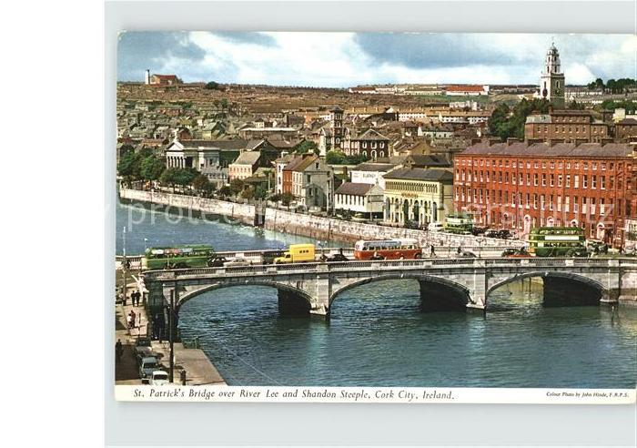 Cork Sankt Patrick`s Bridge River Lee Shandon Steeple Kat. Cork
