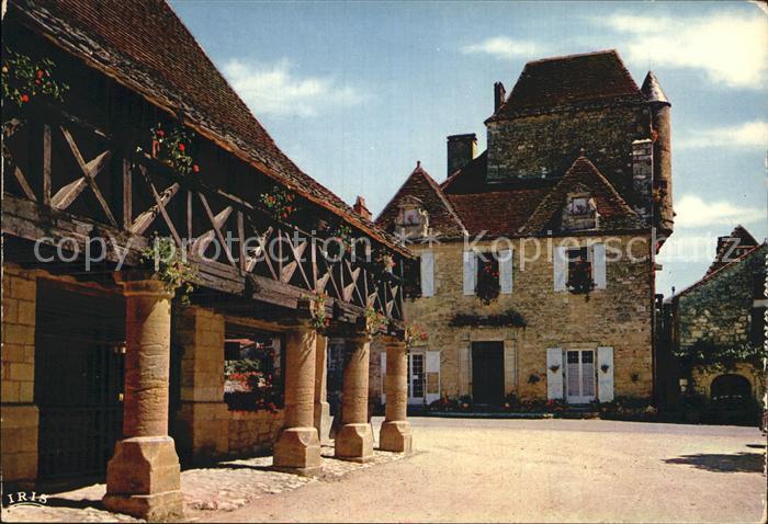 Domme La Halle la maison du Gouverneur XVI Kat. Domme