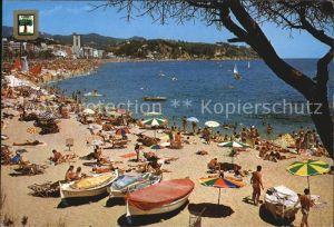 Lloret de Mar Vista general de la playa Strand Kat. Costa Brava Spanien
