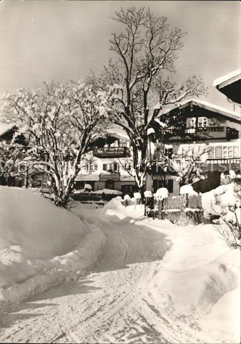 Rimsting Ortspartie im Winter Kat. Rimsting Chiemsee