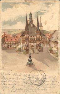 Wernigerode Harz Rathaus Marktplatz Kat. Wernigerode