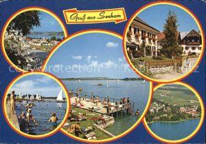 Seeham Stadtansicht Kat. Seeham