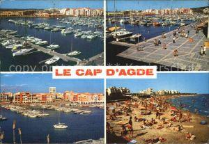 Cap d Agde Le Port et Roberts Club Le Quai La Plage du Mole Kat. Agde