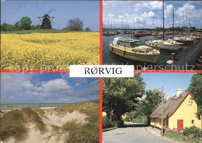 Rorvig Muehle Hafen Duenen Dorfmotiv Kat. Daenemark