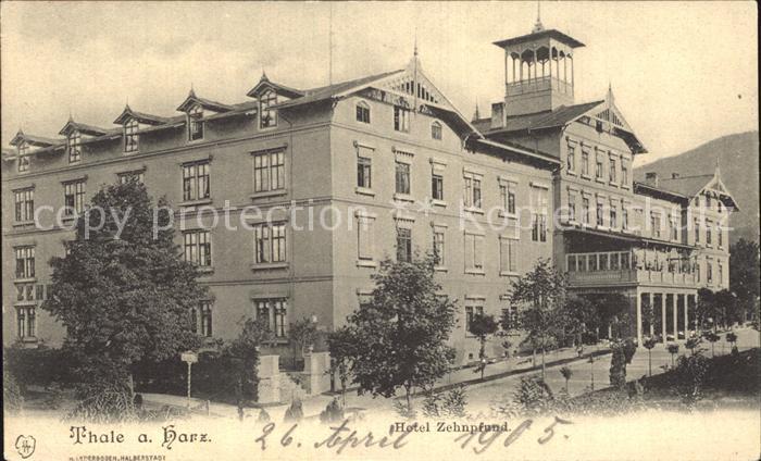 Thale Harz Hotel Zehnpfund Kat. Thale