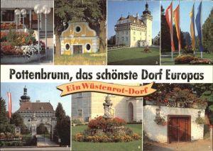 Pottenbrunn Hauptschule Herrschaftskeller Schloss Trautmansdorff Schloss  Allee  Park  Keller Kat. St. Poelten