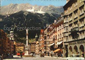 Innsbruck Maria Theresien Strasse mit Nordkette Kat. Innsbruck