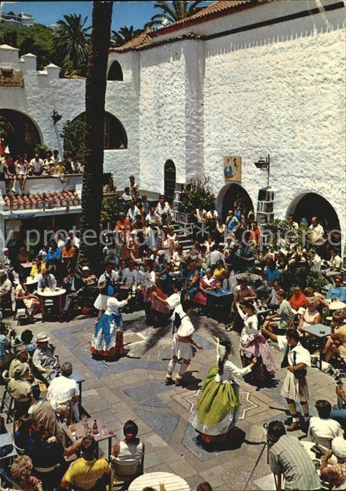 Las Palmas Gran Canaria Baile tipico en El Pueblo Canario Volkstanz Kat. Las Palmas Gran Canaria