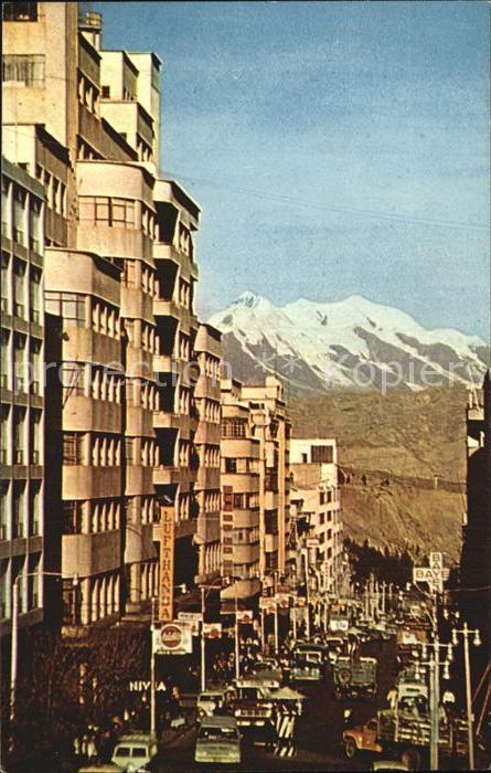 La Paz Bolivia Avenida Bolivar Gebirge Kat. La Paz
