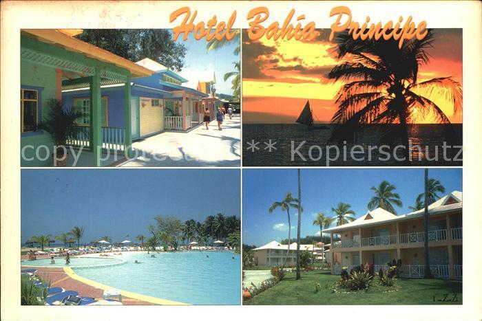 Punta Cana Hotel Bahia Principe Swimming Pool Sonnenuntergang am Meer Kat. Punta Cana