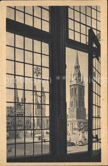 Halle Saale Am Rathausfenster Kat. Halle