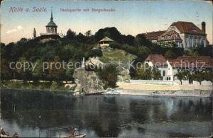 Halle Saale Saalepartie Bergschenke Kat. Halle