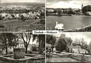 Tambach Dietharz Brunnen im Park Kurpark Milchbar Kat. Tambach Dietharz