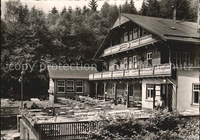 Tabarz Schweizerhaus Lauchagrund Kat. Tabarz Thueringer Wald