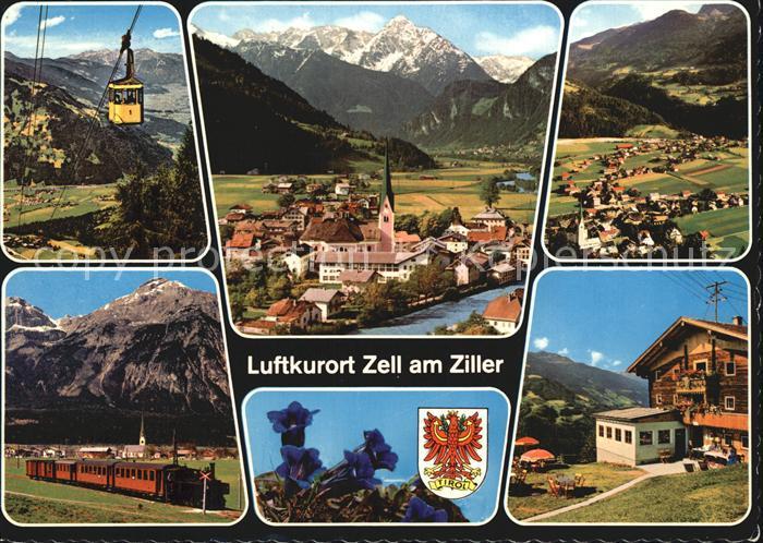 Zell Ziller Tirol Panorama Ortsansichten Eisenbahn Kat. Zell am Ziller