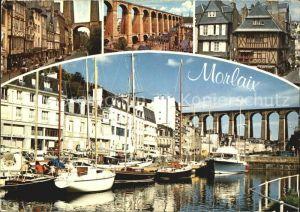 Morlaix Les vieilles maisons le viaduc et le port Kat. Morlaix