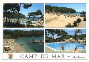 Camp de Mar Camping Strand Seebruecke Swimmingpool Kat. Andratx Mallorca