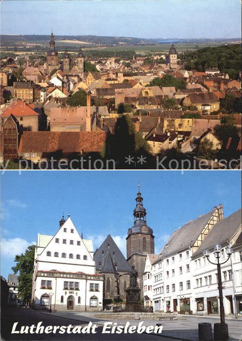 Eisleben Panorama Markt Kirche Kat. Eisleben
