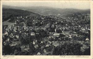 Wernigerode Harz Blick von Schlossterrasse Kat. Wernigerode
