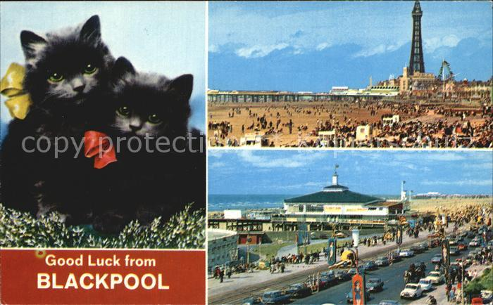 Blackpool Beach and Tower South Pier and Promenade Kat. Blackpool
