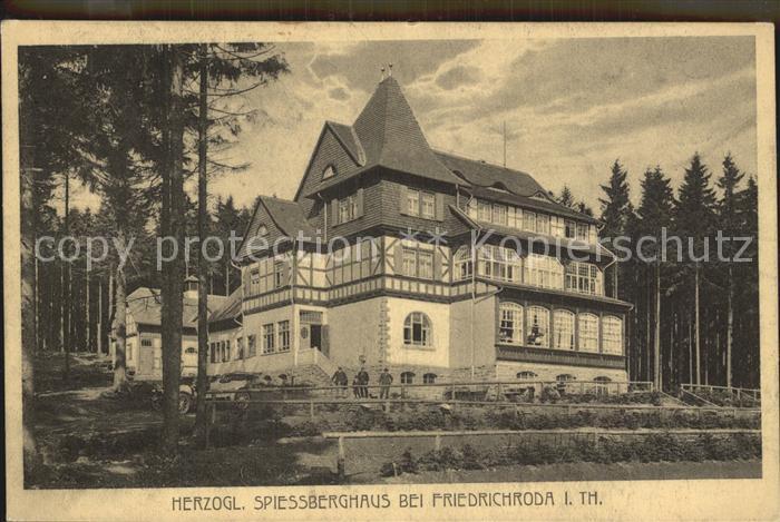 Friedrichroda Herzogliches Spiessberghaus Kat. Friedrichroda