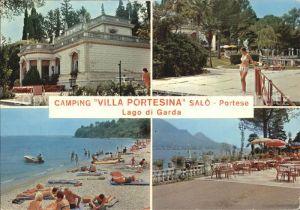 Salo Portese Camping Villa Portesina Strand Restaurant Gardasee