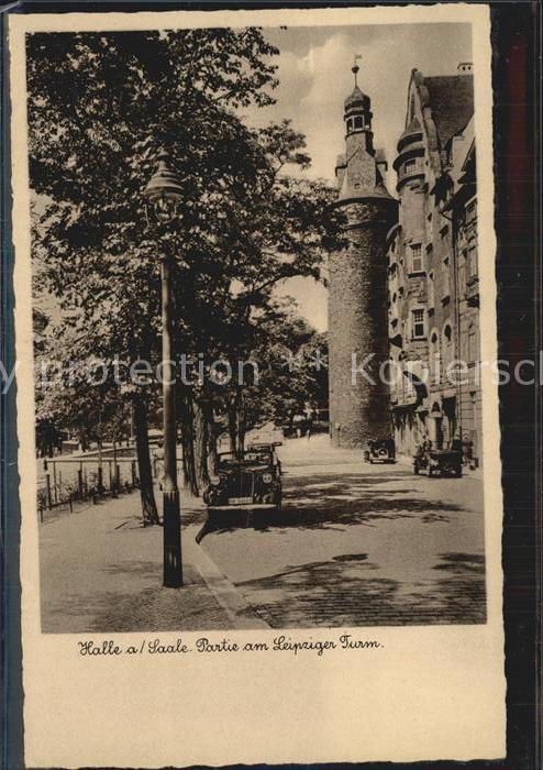 Halle Saale Partie Leipziger Turm Kat. Halle