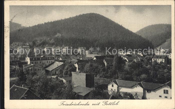 Friedrichroda Panorama mit Gottlob Kat. Friedrichroda