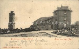 Harz Brockenhaus mit Observatorium Kat.