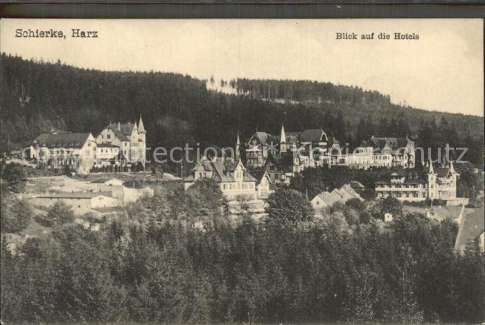 Schierke Harz Blick auf Hotels Kat. Schierke Brocken