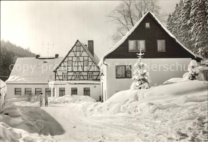 AK Chemnitz, Gasthaus Zeisigwaldschänke im Winter Nr. 7217428 ...