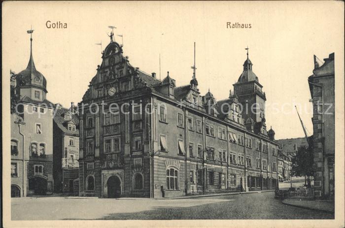 Gotha Thueringen Rathaus Kat. Gotha