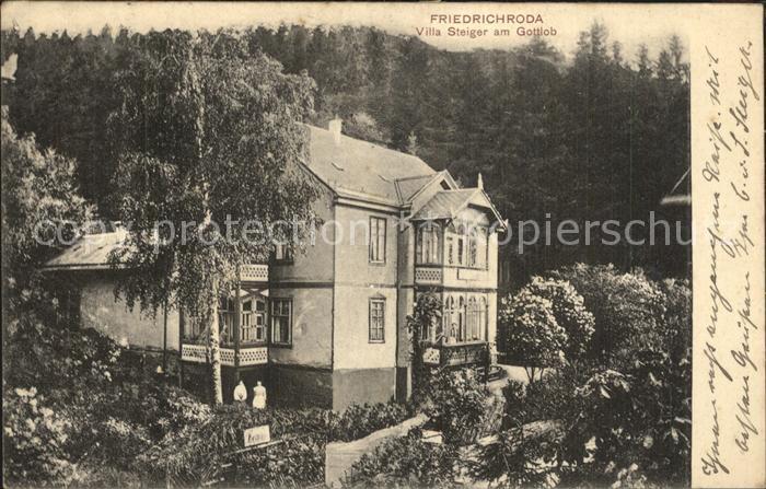 Friedrichroda Villa Steiger am Gottlob Kat. Friedrichroda