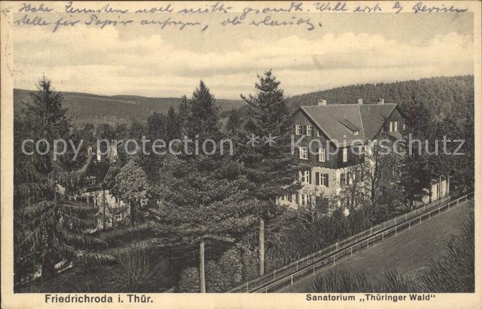 Friedrichroda Sanatorium Thueringer Wald Kat. Friedrichroda