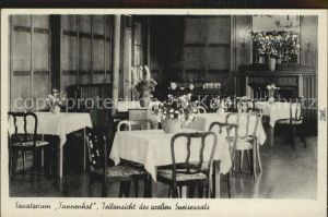 Friedrichroda Sanatorium Tannenhof grosser Speisesaal Kat. Friedrichroda