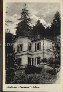 Friedrichroda Sanatorium Tannenhof Waldeck Kat. Friedrichroda