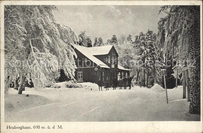 Friedrichroda Heuberghaus Winter Kat. Friedrichroda