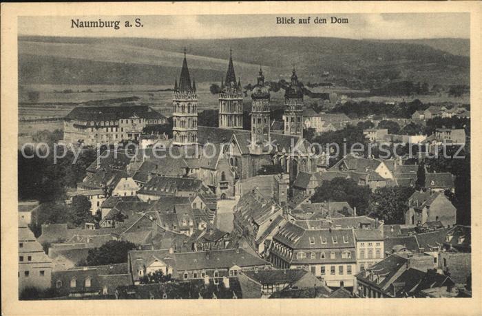 Naumburg Saale Blick auf den Dom Kat. Naumburg