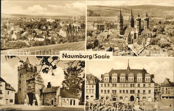 Naumburg Saale Blick auf den Dom Rathaus Marientor Blick vom Panoramaweg Kat. Naumburg