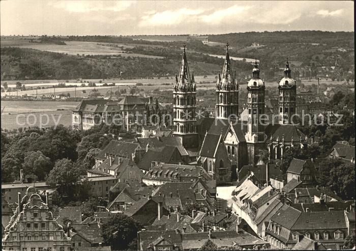 Naumburg Saale Blick zum Dom Kat. Naumburg