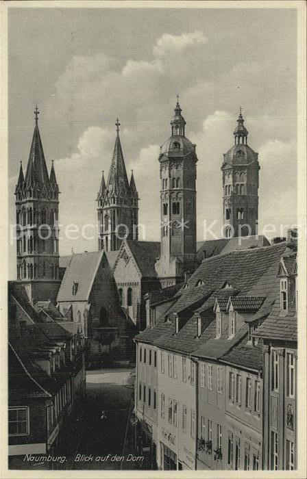 Naumburg Saale Blick auf Dom Kat. Naumburg