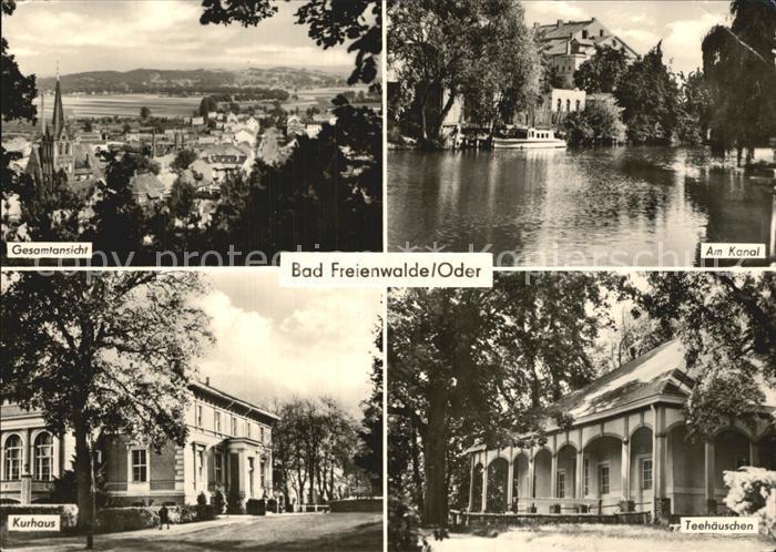 Bad Freienwalde Kurhaus Kanal Teehaeuschen  Kat. Bad Freienwalde