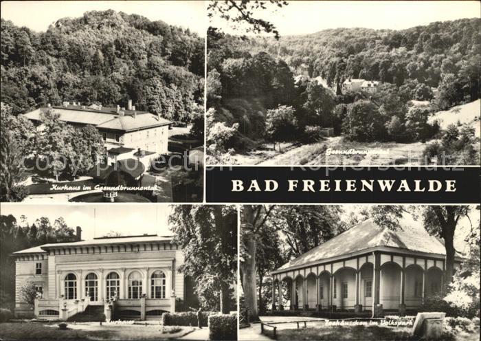 Bad Freienwalde Kurhaus Gesundbrunnental Volkspark Teehaeuschen Kat. Bad Freienwalde
