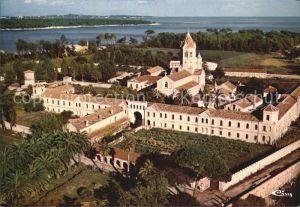 Ile Saint Honorat Alpes Maritimes Abbaye de ND de Lerins Vue aerienne