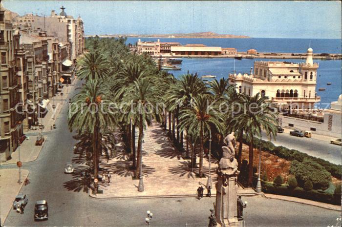 Alicante Monumento a Canalejas y Explanada de Espana Kat. Alicante