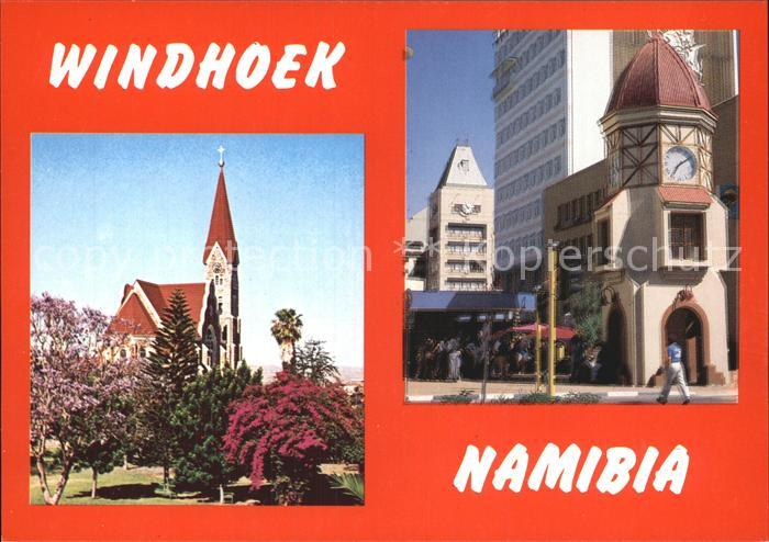 Windhoek German Lutheran Church Clock Tower Post Mall Christuskirche Uhrenturm Kat. Windhoek